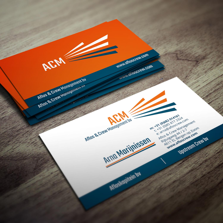 Wizytówki dla firmy Aflos & Crew Management BV stworzone przez Agencję reklamową .:artmack